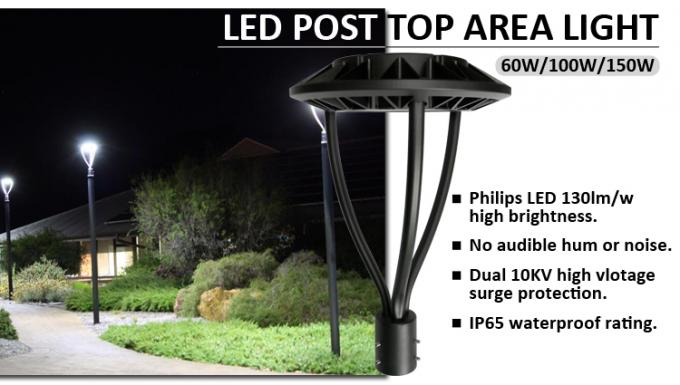 pole mounted led circular area lights 100w large area outdoor lighting