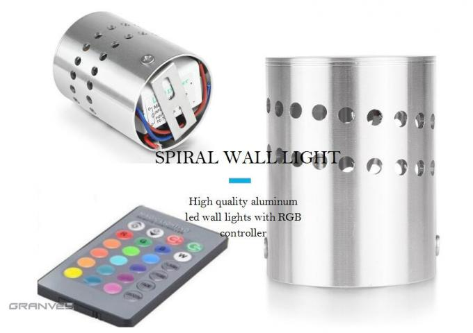 3W Colorful Aluminum Spiral Indoor LED Wall Lights For  KTV Karaoke Bar