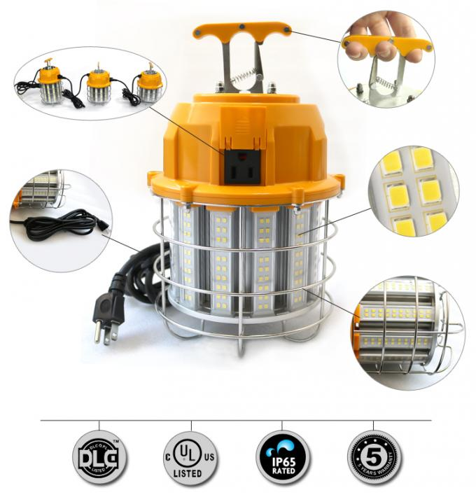 Construction Site String Lights: Led Temporary String Lights Indoor Outdoor Temporary