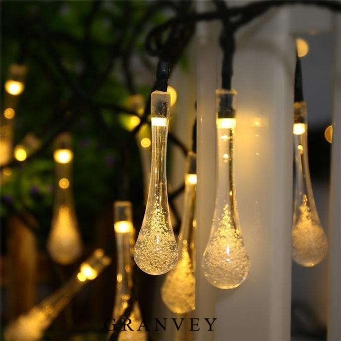 Water Drops Solar LED Christmas Lights 8 Modes Outdoor Garden Landscape Ambiance