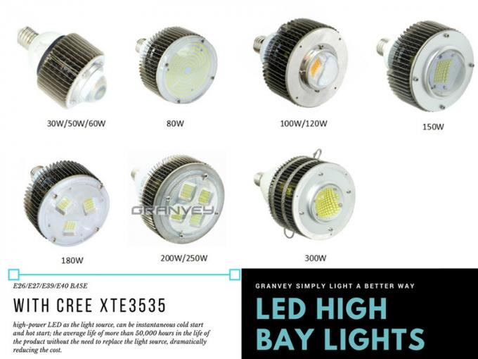 High Efficiency E40 120W High Bay Light Bulb CREE LED Chip Warehouse Installation