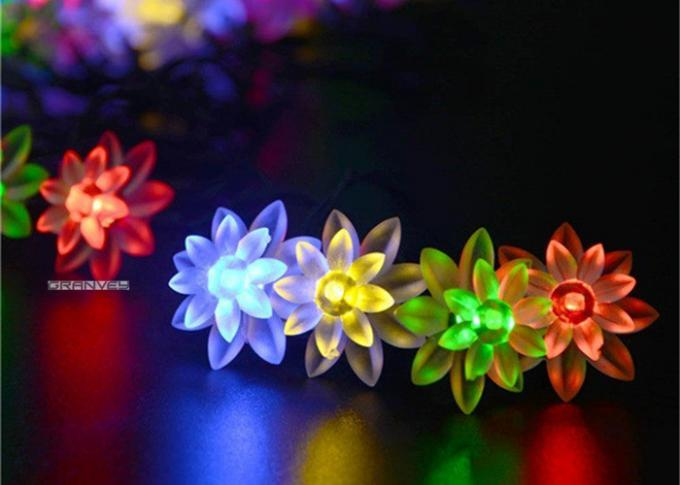 Outdoor Colorful Solar LED Christmas Lights Flower Waterproof String 0.15M Lamp Space
