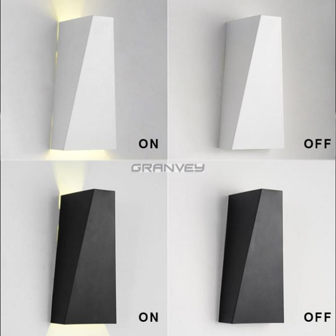 Trapezoidal Interior Corner Wall Lights , LED Wall Sconce Lighting 2 Heads 160*100mm Size