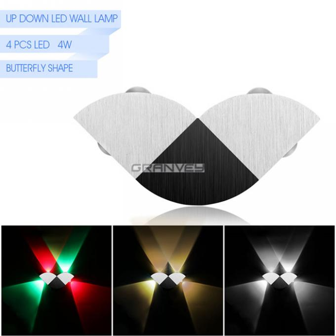 Butterfly Shape 4W Indoor LED Wall Lights Lamp Colorful Shine Up And Down