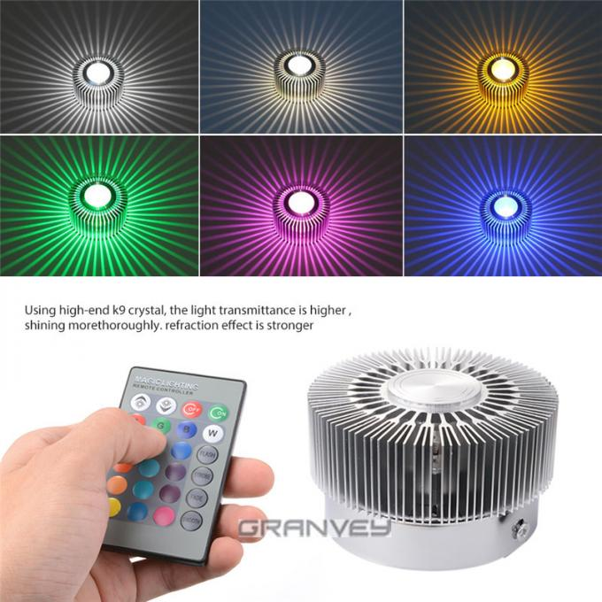 Sunflower Shape 3W RGB Colorful Indoor LED Wall Light Surface Embedded Mounted