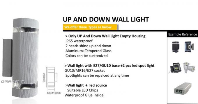 No Humming External Led Up And Down Wall Lights 6 Wattage Long Service Life