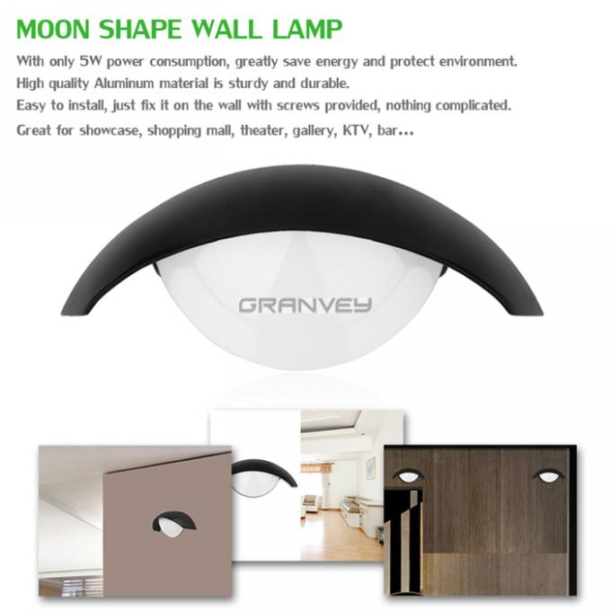 Moon Shape 8W Waterproof LED Wall Lamp Shine Down Outdoor Building Decoraction
