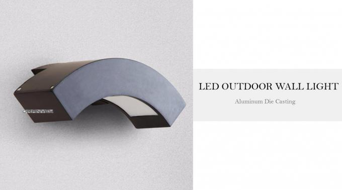 LED Aluminum Waterproof 10W Outdoor Mount Wall Lights Fixtures For Outside Garden