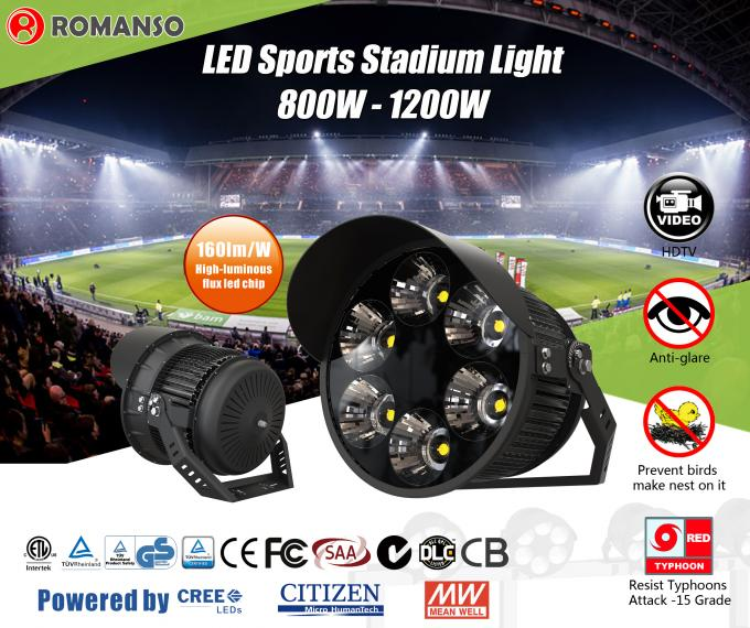 Waterproof High Power LED Stadium Lights / LED Outdoor Sports Lighting
