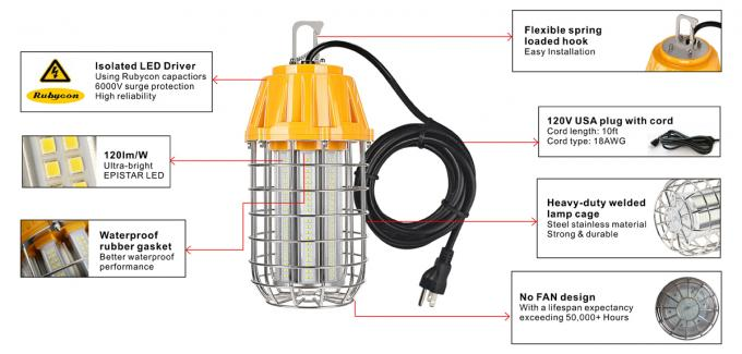 Outdoor IP65 LED Temporary Lighting Lamp 150*320mm
