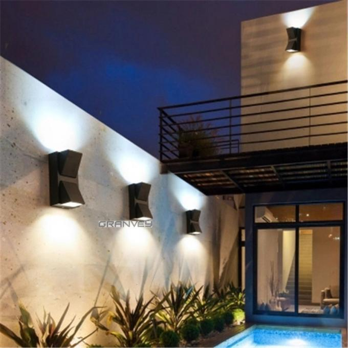 Twin Heads LED Outdoor Wall Lights , Led Outside Wall Lights For Houses