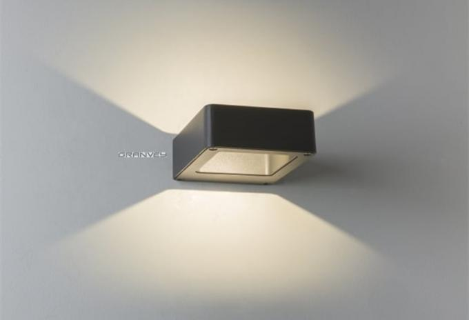 Square 5W LED Outdoor Wall Lights Led Up And Down Wall Lamp 2700K - 6500K