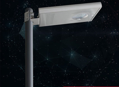 White Color 10W LED Solar Street Light All In One With PIR Motion Sensor
