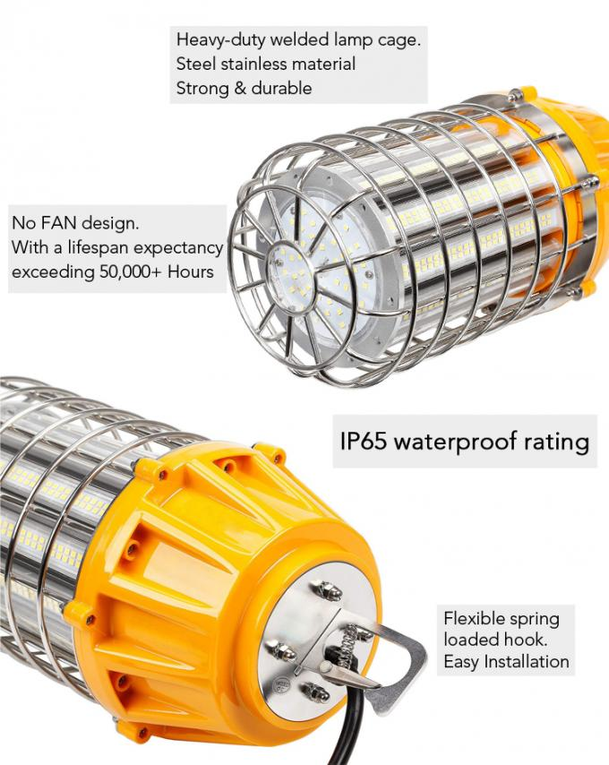 100 Watt Corncob String Lights For Construction Sites With A Steel Cage / 10 Ft Cord