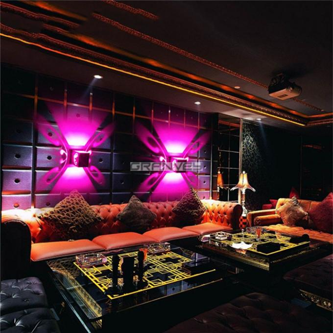 Hollow Butterfly Indoor LED Wall Lights Lamp 2W 6W Colorful KTV Bar Illumination