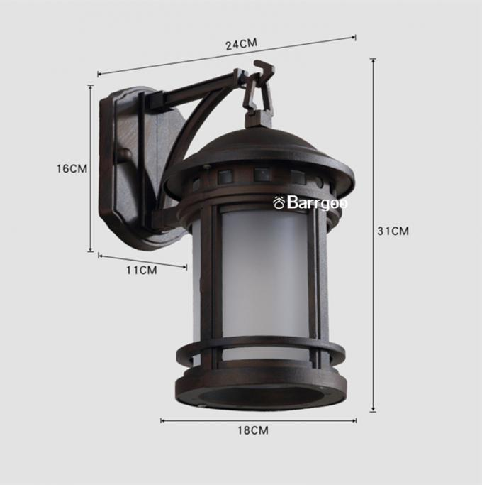 American Country Vintage Aluminum Garden Wall Light Sconce With E27 Bulb Socket