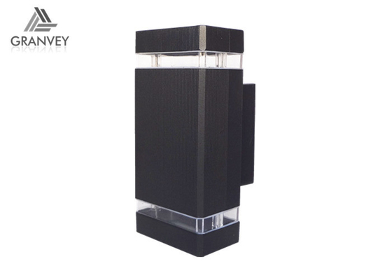 China Black External LED Up And Down Wall Lights IP65 Tempered Glass Diffuser 2 Years Warranty supplier