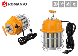 Corncob LED Temporary Work Lights UL DLC 60W 100W 150W 120-277V Day Light