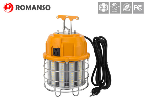 60W 7200LM Temporary Construction Lighting Strings / Corncob LED Temporary Job Site Light
