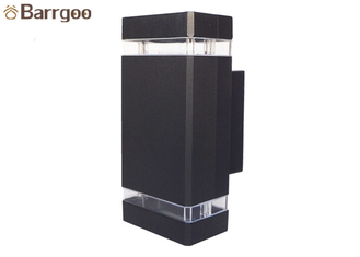 China Up Down Modern Led Outdoor Wall Lights 2X3W 6W IP65 Waterproof Cuboid 3 Years Warranty supplier