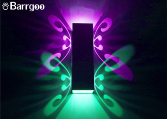 China Hollow Butterfly Indoor LED Wall Lights Lamp 2W 6W Colorful KTV Bar Illumination supplier