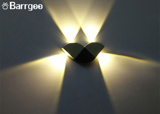 China Butterfly Shape 4W Indoor LED Wall Lights Lamp Colorful Shine Up And Down supplier