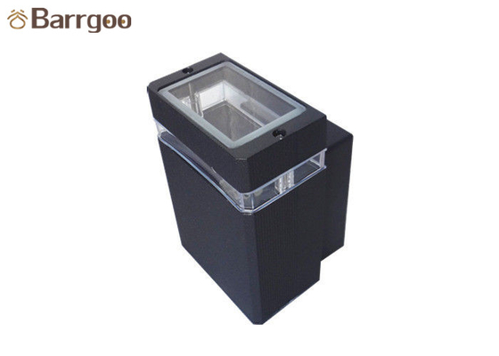 China GU10 One Head Shine Up Down Led Wall Light Fixtures Square For Outdoor Path supplier