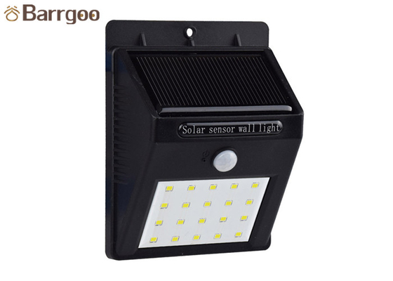 China 2W Garden Solar Powered LED Wall Light , Solar Wall Light With Motion Sensor IP65 supplier