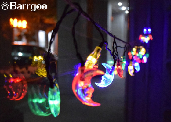 China 30 LED Moon Solar LED Christmas Lights String 6M Outdoor Waterproof For Party supplier