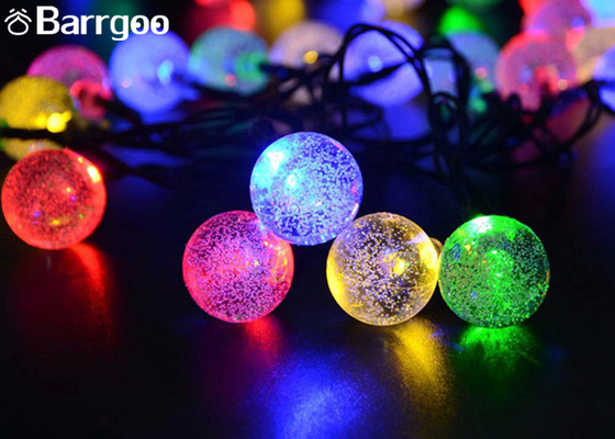 China Crystal Solar Powered Fairy Lights , Solar Powered Christmas Ornament Ball Xmas Party Tree Decors supplier