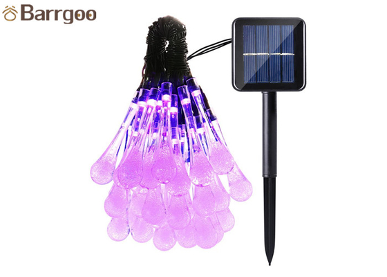China Water Drops Solar LED Christmas Lights 8 Modes Outdoor Garden Landscape Ambiance supplier