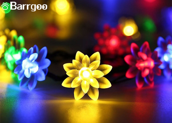 China Outdoor Colorful Solar LED Christmas Lights Flower Waterproof String 0.15M Lamp Space supplier
