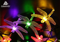 China Outdoor Dragonfly Solar LED Christmas Lights String 6M 30 LED For Festival Party factory