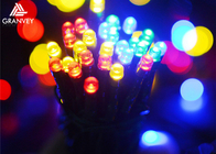 China 12M Multi Colored Outdoor String Lights Round Bulbs , Decorative Hanging Lights  factory