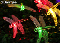 Outdoor Dragonfly Solar LED Christmas Lights String 6M 30 LED For Festival Party
