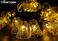 Holiday 6M Bell Solar LED Christmas Lights 30 LED Waterproof For Outdoor Garden
