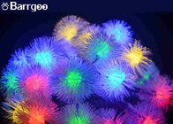 20 LED Furry Ball Solar LED Christmas Lights Colorful IP65 Xmas Decoration