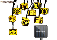 Creative Letter Solar Powered Outdoor Christmas String Lights Waterproof Plastic Material