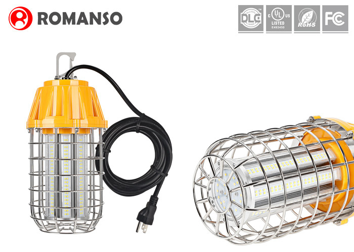 Construction String LED Temporary Work Lights 60 Watt 7800 Lm With 10ft Power Wire