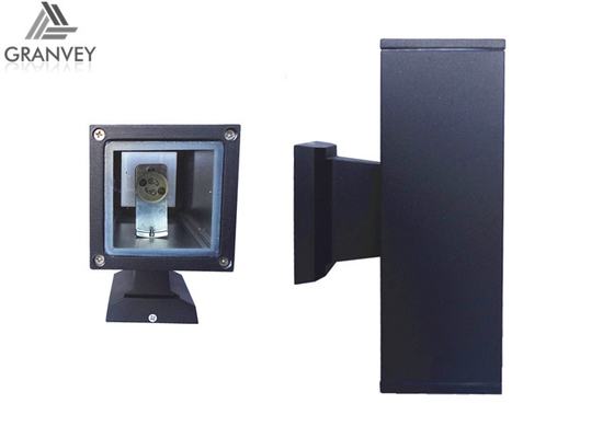Black Up And Down LED Outdoor Wall Lights , Square Outside Wall Lights 2 Years Warranty