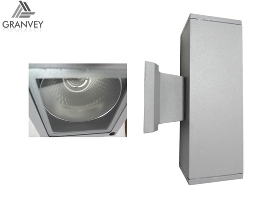 Square Up Down Led Wall Light IP 65 Waterproof Aluminum Housing With Bulb Sockets