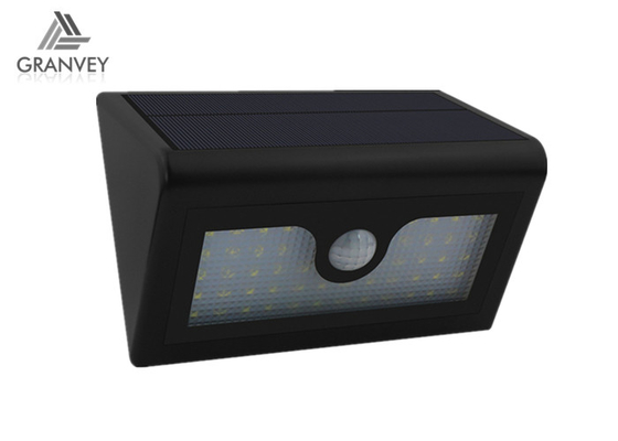 38LED Big Triangle Solar LED Wall Light Lamp 6W Black 8 Hours Charge Time