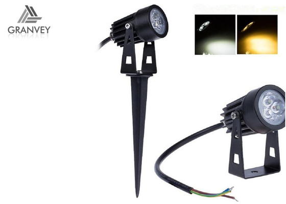 3W High Brightness Solar LED Garden Lights Black Aluminum IP65 Outdoor Flat Shape