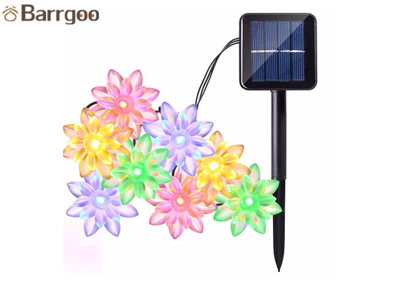 Lotus Flower Solar LED Christmas Lights 6M 30 LED Garden Decorations Easy To Install